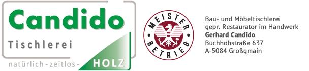 Tischler und Restaurator Candido Salzburg Logo